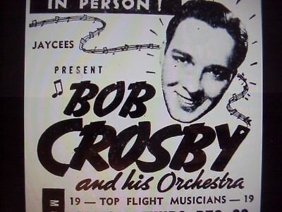 RARE DVD SET = BOB CROSBY SHOW (1953 Variety) w/ case  (NOT FROM TV RERUNS)