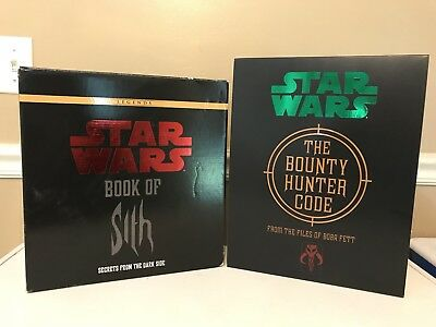 Star Wars Book of Sith And The Bounty Hunter Code Complete Rare