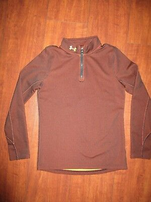 Girls Under Armour Long Sleeve Shirt Fitted Cold Gear Size Ylg Nwot