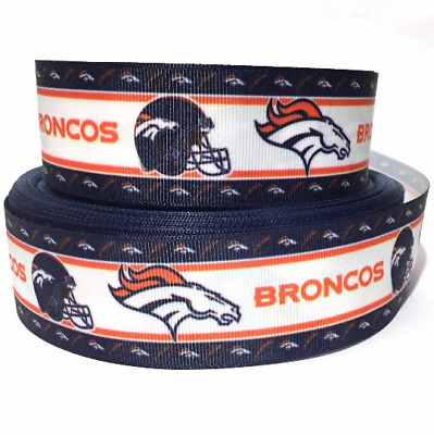 "GROSGRAIN RIBBON 5/8"", 7/8"", 1.5"" & 3"" SPORTS FOOTBALL Orange BULK PRINTED"