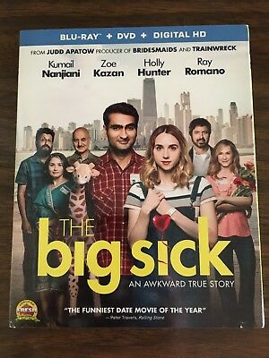 The Big Sick (Blu-ray & DVD, 2017, 2-Disc Set) Includes Digital HD, BRAND NEW