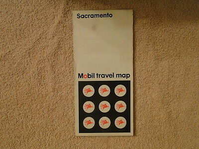 Vintage 1971 Mobil Map Of Sacramento