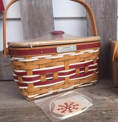 Longaberger 2015 Christmas Collection Basket Set W Tie On Too