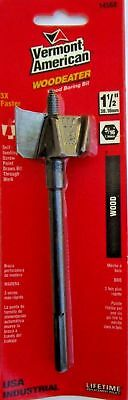 """Vermont American Wood Eater Wood Boring Bit 14568, 1-1/2"""",  One Piece, NEW"""