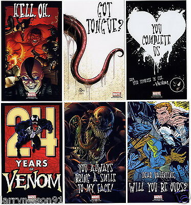 Venom Complete Card Set Oversize Promo Cards Spider-Man Valentines Day Marvel Vd