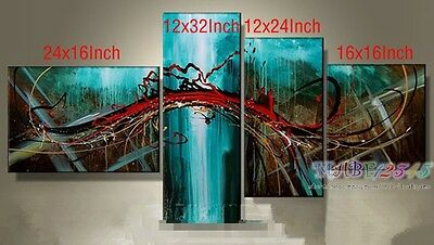 YH108 4pcs Hand painted Oil Canvas Wall Art Home Decor Modern Abstract NO Frame