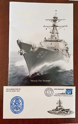 The Commissioning of USS HOWARD DDG 83 Galvestion Texas OCT 2001 & First Day CVR