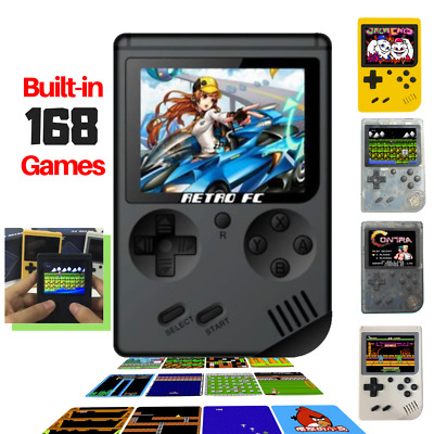 Mini Handheld Game Console Mini Video Game Player Built-in 168 Retro Games Gift