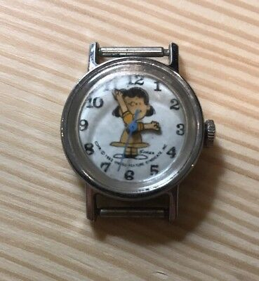 Vintage LUCY Peanuts 1952 Watch!!! Works! Wind Up (No Strap)