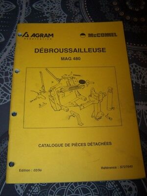 6G Catalogue pieces de rechange AGRAM Debrousailleuse MAG 480
