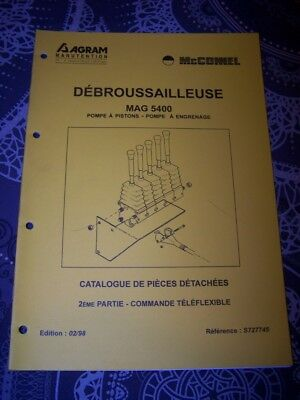 6U Catalogue de pieces detachees AGRAM Debrousailleuse MAG 5400