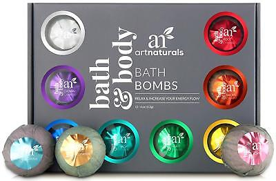 Natural Essential Oil Bath Bombs - Moisturize Relaxing, Assorted Scents