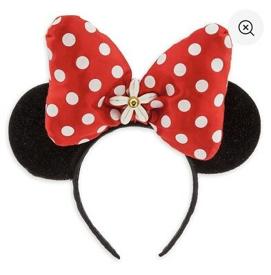 Disney Parks Authentic Minnie Mouse Ear Costume Headband Red Bow Polka Dot New