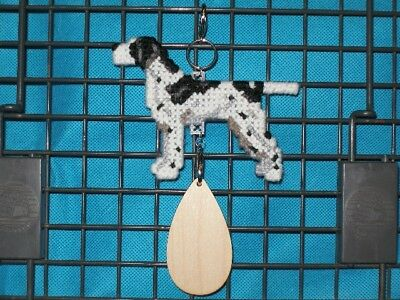 Pointer #2 dog crate tag or hang anywhere pet sign art, English, black/white