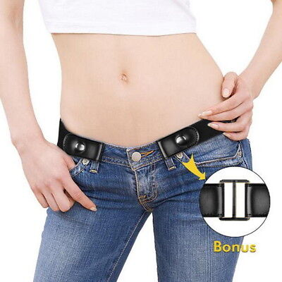 Buckle-Free Elastic Belts Women's Invisible Belt for Jeans No Bulge Hassle