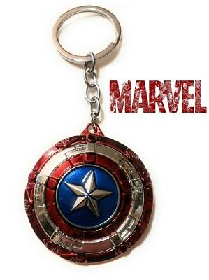 Captain America Spinning Star Shield The Avengers Movie metal Key chain keychain