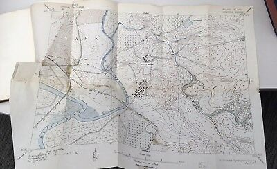 TOPOGRAPHICAL DRAWING Edwin R. Stuart, 1917 Map making West Point Rare