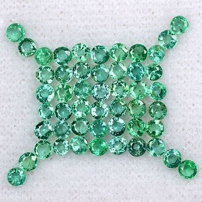 4.05 Cts Natural Top Green Emerald Round Cut Lot Zambia Size 2 upto 2.5 mm Loose