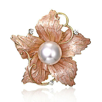 Women Fashionable Painted Drop Flower Brooch High-grade Personality Alloy Brooch
