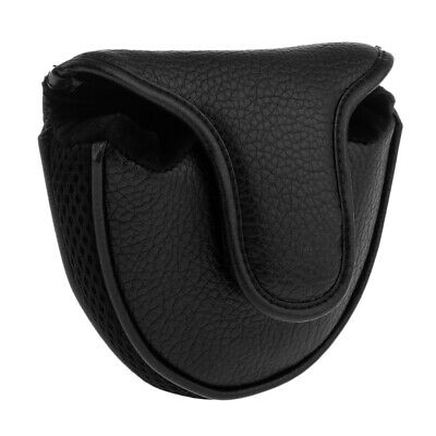 PU Golf Square Mallet Putter Cover Headcover Club Protector Gear Bag Black