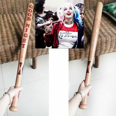 """32"""" COS Suicide Squad Harley Quinn Actual painted Wooden Baseball Halloween NEU"""
