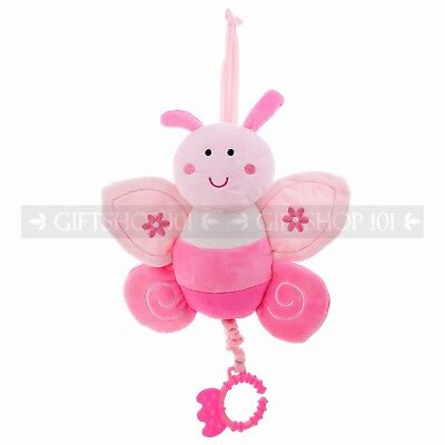 """10"""" Cute Butterfly Baby Pull String Musical Plush"""