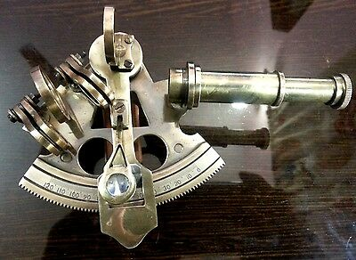 """3""""Nautical Solid Brass Sextant~Antique vintage Navigation Working Brass Sextant"""