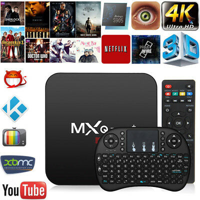 Smart Android 6.0 TV Box RK3229 Quad Core 4K VP9 H.265 2+16G USB HD WiFi Clavier