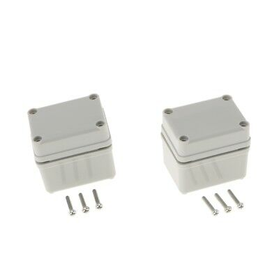 2 x Outdoor Waterproof ABS Adaptable IP67 Junction Box Enclosure 65×50×55mm