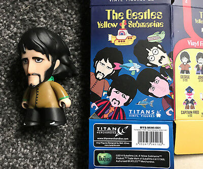 THE BEATLES. GEORGE. Yellow Submarine Titans Figure. New with box.