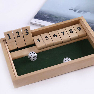 Funny New Mini Wooden Shut The Box Game Toy For Adult Party Drinking New KL