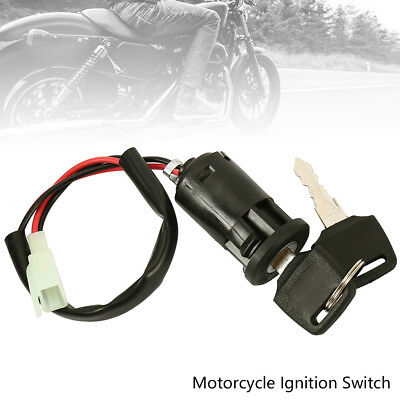 Motorcycle Ignition Barrel Key Switch 2 wire Universal On / Off Metal ATV Kit CA