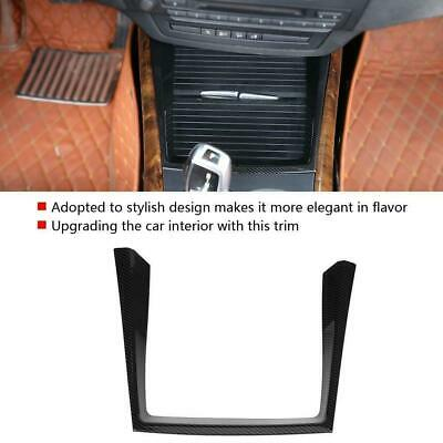Car Carbon Fiber Style Water Cup Holder Cover Trim for BMW X5 E70 2008-2013 UK