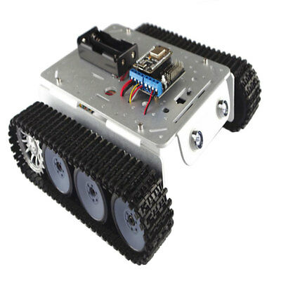 Smartphone Remote Control Obstacle Avoidance Smart Robot Tank Chassis Kits