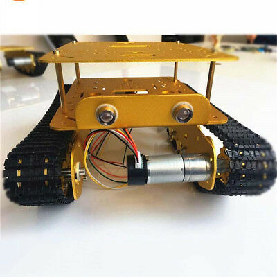 Obstacle Avoidance Double Shock Absorption Smart Robot Tank Chassis Kits