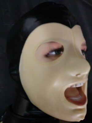 < LATEXVERTRIEB >  Latex-Maske  schwarz/transparent in Gr. S
