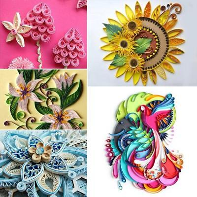 Art Hobby DIY Handmade Crafts Paper Quilling Strips, 4 Different Sizes 26 Colors
