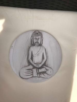 Latex Craft Mould To Make Round Buddha Plaque Art & Crafts Hobby