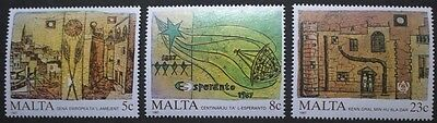 Anniversaries and events stamps,1987, Malta, SG ref: 806-808, 3 stamp set, MNH