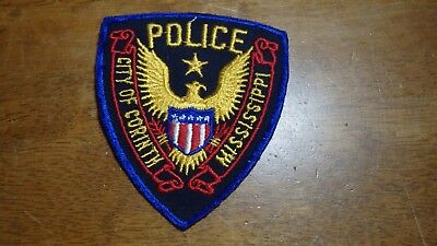 Corinth Mississippi Police Department Old Cheese Cloth   Obsolete Patch Bx B#15