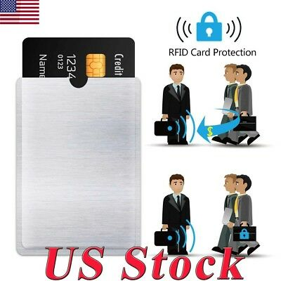 4-20x RFID Blocking Sleeve Protector Bank Card Credit Card Holder Case Wallets