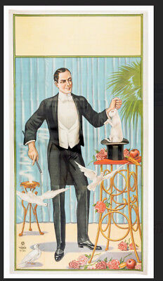 Magician's Magic Stock Poster Vintage Three Sheet 1920