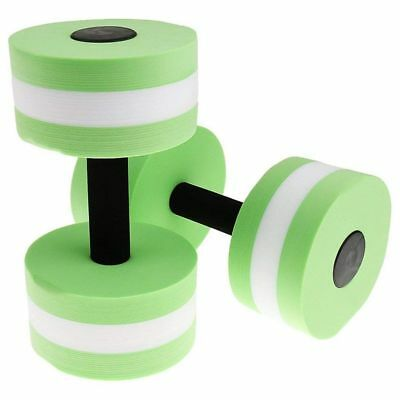 EVA Watersport Dumbbell for Fitness Water aerobics Swimming exercise Green L4Y1