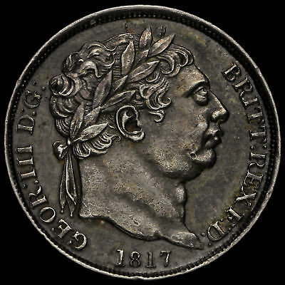 1817 George III Milled Silver Sixpence, EF