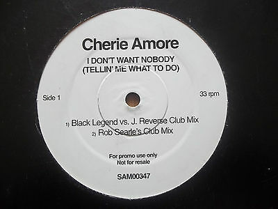 "Cherie Amore - I Don't Want Nobody - 12"" Record - Eternal - Sam 00347 - 2000"