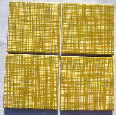 6 Orla Kiely Coasters Stem Design  Heat Proof