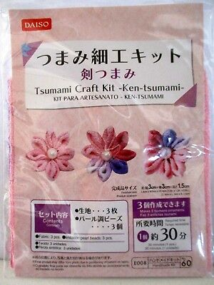 Japanese Hand Craft  Ken Tsumami Zaiku Kit DAISO