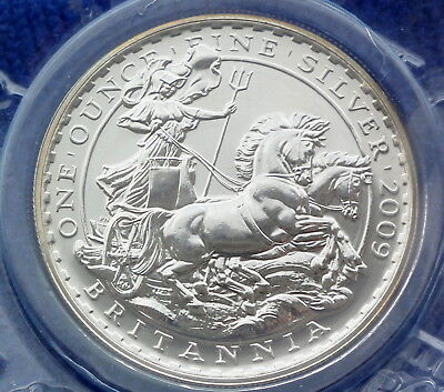 2009 UK £2 SILVER BRITANNIA =1oz 958 Fine Britannia Silver New Uncirculated