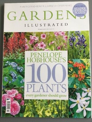 Gardens Illustrated Magazine February 2015 - Penelope Hobhouse's 100 Plants