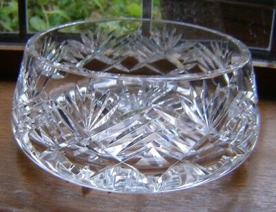 Beautiful Vintage Tipperary Heavy Crystal Glass Bowl Approx 7Cm X 15.2 X 17.8Cm